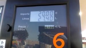 precio glp marzo 2013 en Repsol Sabadell